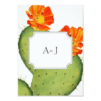 Kaktushochzeits-Einladungskarte Karte