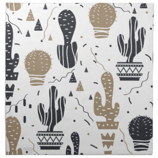 Kaktusmuster Stoffserviette