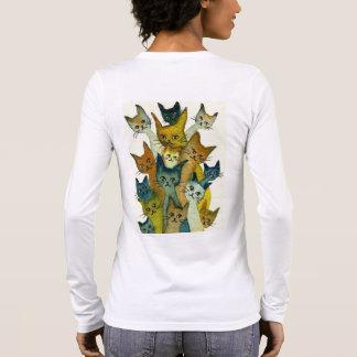 Kalamazoo wunderliche Katzen Langarm T-Shirt