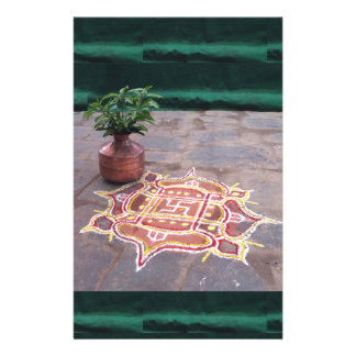 Kalas Vasen-Hakenkreuz rangoli indische Hochzeit Briefpapier