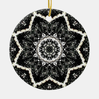 Kaleidoscope Gothic Rundes Keramik Ornament