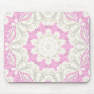 Kaléidoscope rose tapis de souris