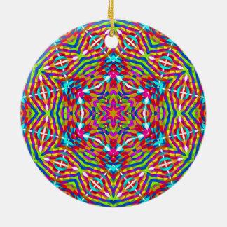 Kaleidoscope Rundes Keramik Ornament