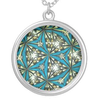 Kaleidoskop-hängende Halskette in den Blues