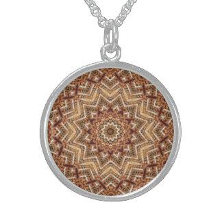 Kaleidoskop-hellbrauner Stern Sterling Silberkette