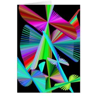 Kaleidoskop-Kunst Mehrfarben Karte