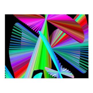 Kaleidoskop-Kunst Mehrfarben Postkarte