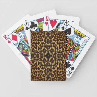 Kaleidoskop-Leopard-Pelz-Muster Bicycle Spielkarten