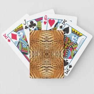 Kaleidoskop-Tiger-Pelz-Muster Bicycle Spielkarten