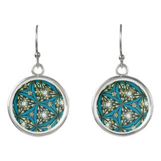 Kaleidoskop-Tropfen-Ohrringe in den Blues Ohrringe
