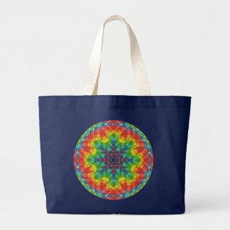 Kaleidoskopischer Heißluft-Ballon 4 Jumbo Stoffbeutel