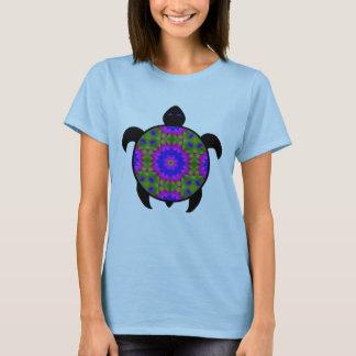 Kaleidoskopischer Mandala-Schildkröte-Entwurf T-Shirt