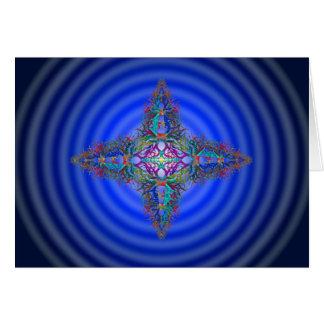 Kaleidoskopischer Stern auf kosmischer Karte