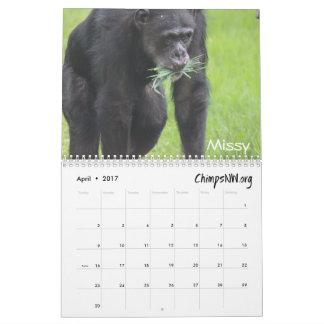 Kalender 2017 für das Schimpanse-Schongebiet