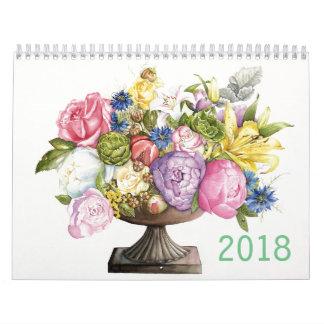 Kalender 2018 der botanischen Aquarelle