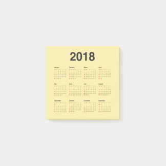 Kalender 2018 post-it klebezettel
