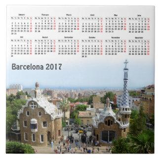 Kalender Barcelonas, Spanien 2017 Keramikfliese