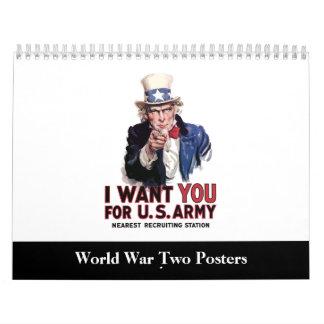 Kalender des Plakat-WW2
