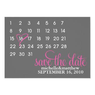 Kalender Save the Date, der Mitteilungen Wedding 12,7 X 17,8 Cm Einladungskarte