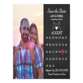 Kalender-Save the Date Foto-Magnet-Karte Magnetische Karte