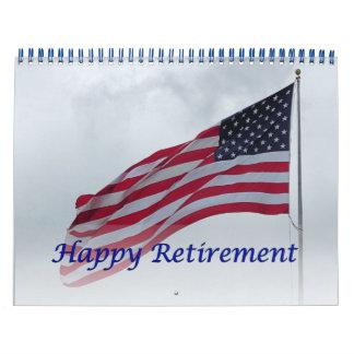 Kalender USA-Flaggen-Blau des Ruhestands-2017