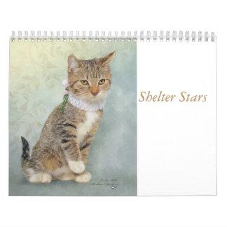 Kalenderkunst, die Schutztiere kennzeichnet Kalender