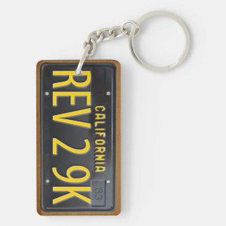Kalifornien 1963 Vintage Lizenz-Platte Keychain Schlüsselanhänger
