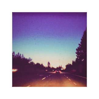 Kalifornien-Abends-Fahrt Leinwanddruck