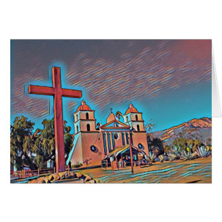 Kalifornien-Auftrag Santa Barbara Grußkarte