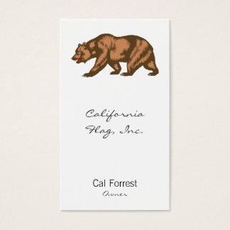 Kalifornien-Bär Visitenkarte
