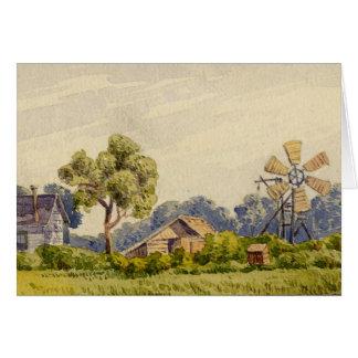 Kalifornien-Bauernhof, nahe Stockton Karte