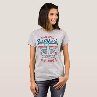 Kalifornien-Brandungs-Strand-Paradies T-Shirt