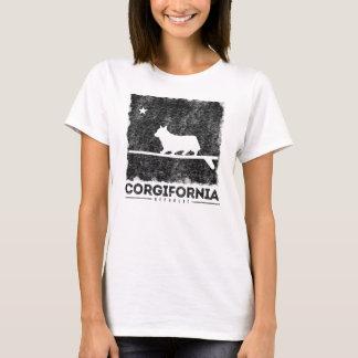 Kalifornien Corgifornia Corgi-Surfbrett-T - Shirt