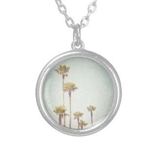 Kalifornien, das Retro Palme-Fotografie träumt Halskette Mit Rundem Anhänger