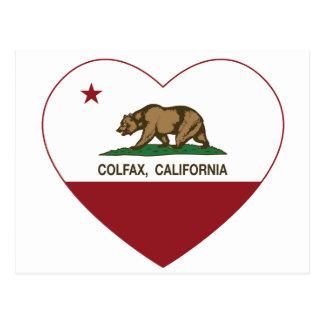 Kalifornien-Flagge colfax Herz Postkarte