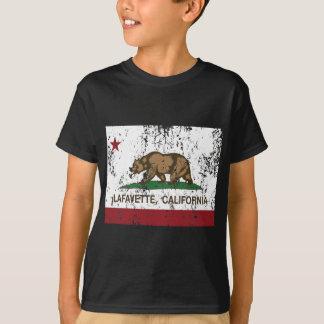 Kalifornien-Flagge Lafayette beunruhigt T-Shirt