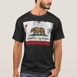 Kalifornien-Flagge lakewood beunruhigt T-Shirt