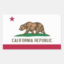 Kalifornien-Flagge Rechrteckaufkleber