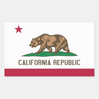 Kalifornien-Flagge Rechteckiger Aufkleber