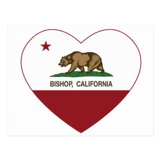Kalifornien-Flaggen-Bischof Postkarte
