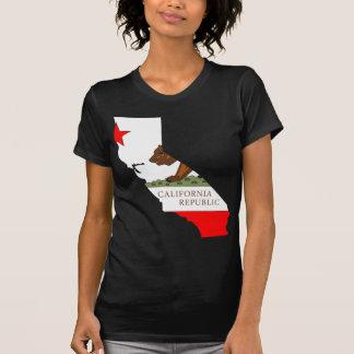 Kalifornien-Flaggen-Karte T-Shirt