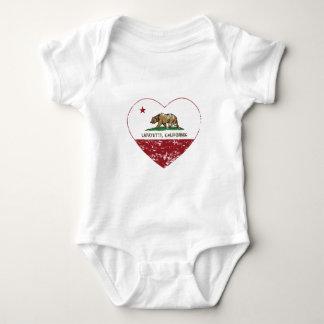 Kalifornien-Flaggenlafayette-Herz beunruhigt Baby Strampler