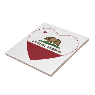 Kalifornien-Flaggenquarz-Hügelherz Kacheln