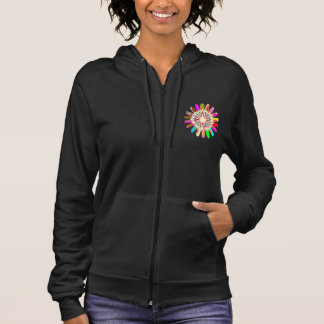 Kalifornien-Fleece SleeveLESS CHAKRA die OM    der Hoodie