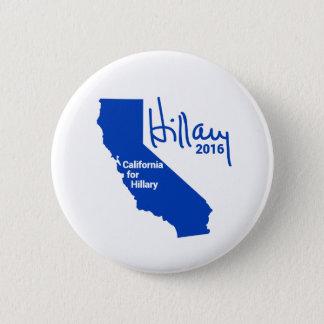 Kalifornien für Hillary - Runder Button 5,1 Cm