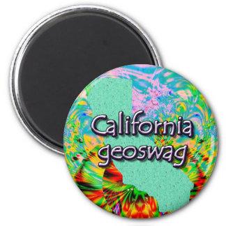 Kalifornien Geocaching liefert Magneten Geoswag Runder Magnet 5,7 Cm