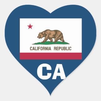 Kalifornien-Herz-geformter Aufkleber