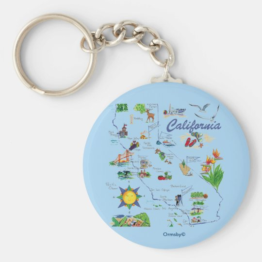 Kalifornien-Karte keychain Schlüsselanhänger