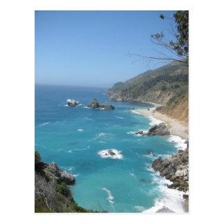 Kalifornien-Küste großes Sur Postkarte