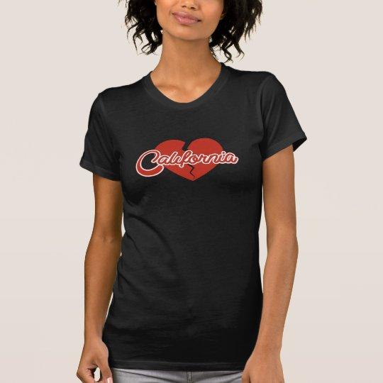 Kalifornien-Liebe und Herz-Bruch T-Shirt